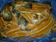 свежемороженные отходы лосося: хребты,  обрезь,  головы,  животы,  ломтики
