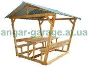 Беседки для дома и дачи деревянные.Новые