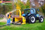 Измельчитель древесины Wallenstein BX102R (Канада). Щепорез на трактор